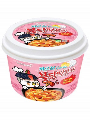 HOT Chicken Flavour Topokki (Rice Cakes) - CARBO Type - SAMYANG