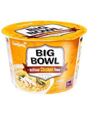BIG BOWL Chicken Flavour Noodles - SAMYANG