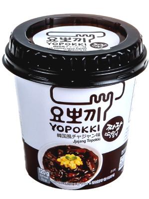 Topokki (rice cakes) with Jjajang (black soy) Sauce - YOPOKKI