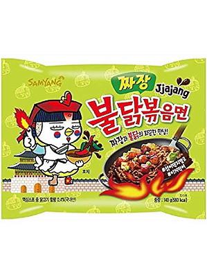 HOT Chicken Flavour Ramen - JJAJANG (Black Bean Sauce) - SAMYANG