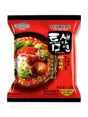 TEUMSAE RAMYUN Rich Hot & Spicy Flavour Instant Noodles - PALDO
