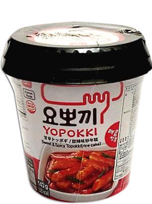 Topokki (rice cakes) - Sweet & Spicy - YOPOKKI