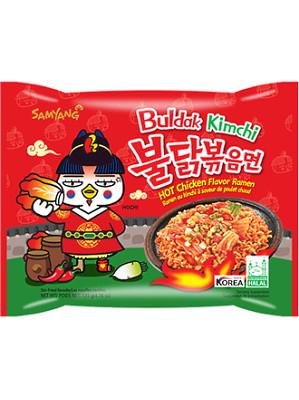 Buldak KIMCHI Hot Chicken Flavour Ramen - SAMYANG