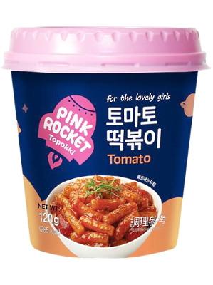 Topokki (rice cakes) - Tomato - PINK ROCKET
