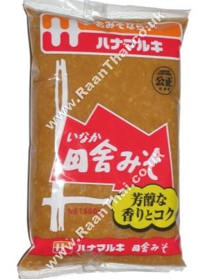 Red Miso Paste (Inaka) 500g - HANAMARUKI