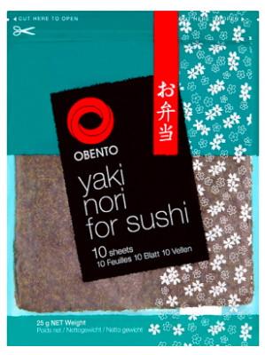 Yaki Nori for Sushi - 10 Sheets - OBENTO