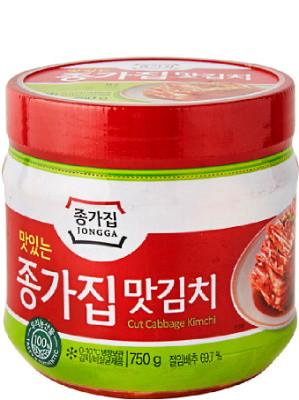 Korean Mat (Cut Leaf) Kimchi 750g (jar) - CHONGGA