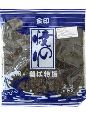 Roasted Seaweed (Nori) 10 Sheets - JIN BI HAI