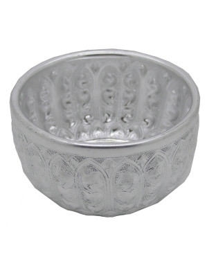 Ornate Aluminium Water Bowl (100mm diameter)