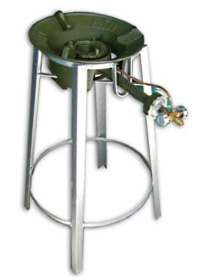 Gas Burner STAND (burner not included) - 68cm (h) x 25cm ([top]d)