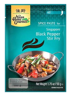 Singapore Black Pepper Stir-fry Spice Paste - ASIAN HOME GOURMET