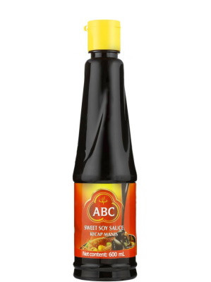 Indonesian Sweet Soy Sauce (Kecap Manis) 600ml (plastic bottle) - ABC