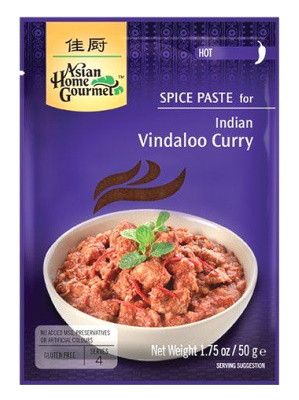 Indian Vindaloo Curry Spice Paste - ASIAN HOME GOURMET
