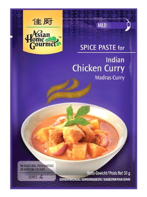Indian (Madras) Chicken Curry Spice Paste - ASIAN HOME GOURMET