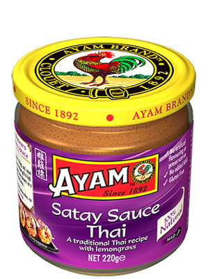 Satay Sauce - Thai Style (with Lemongrass) 220g - AYAM