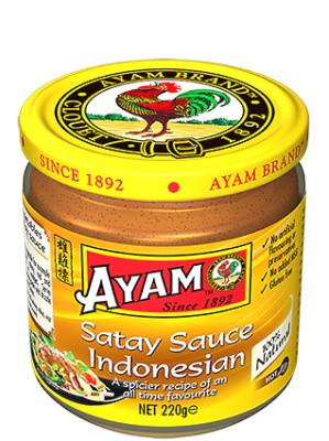 Satay Sauce - Indonesian Style (Hot) 220g - AYAM