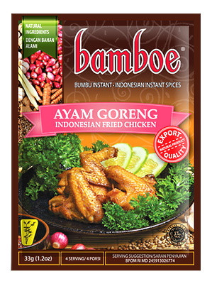 Ayam Goreng (Indonesian Fried Chicken) Paste - BAMBOE