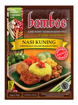 Nasi Kuning (Spice Mix for Indonesian Yellow Fragrant Rice) - BAMBOE
