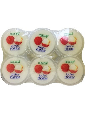 Lychee Puddings with Coconut Gel 6x80g - COCON