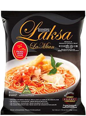 SINGAPORE Laksa La Mian (Noodle in Aromatic Coconut Soup) - PRIMA TASTE