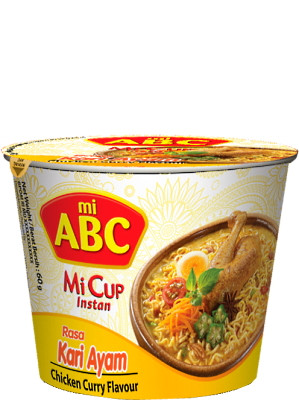 Instant CUP Noodles - Kari Ayam (Chicken Curry) Flavour - ABC