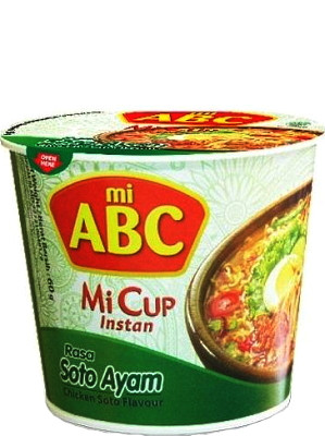 Instant CUP Noodles - Soto Ayam (Chicken Soto) Flavour - ABC