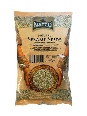 Natural (unhulled) Sesame Seeds (for toasting, etc.) 400g - NATCO