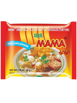 Instant Flat Noodles - Tom Yam Flavour - MAMA
