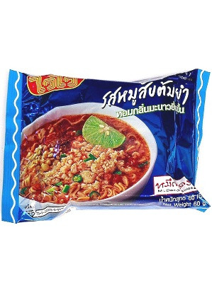 Instant Noodles - Minced Pork Tom Yum Flavour - WAI WAI