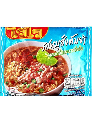 Instant Noodles - Minced Pork Tom Yum Flavour 30x60g - WAI WAI