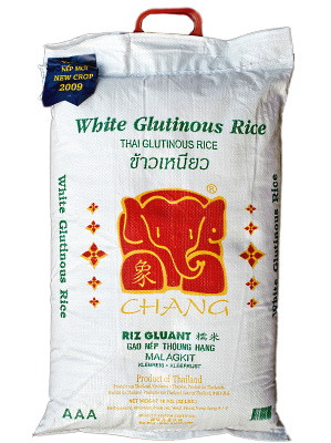 Thai White Glutinous Rice 10kg - CHANG