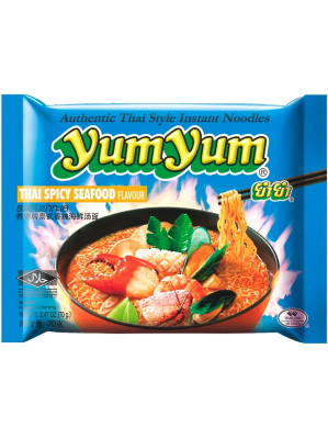 Instant Noodles - Thai SPICY Seafood Flavour - YUM YUM