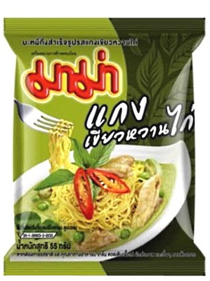 Instant Noodles - Chicken Green Curry Flavour 30x55g - MAMA