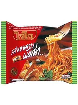 Instant Noodles - Pad Char Baby Clam Flavour 30x60g - WAI WAI