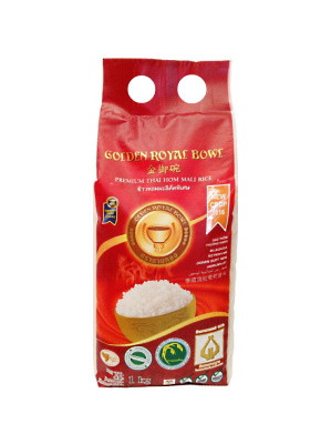 Premium Thai Hom Mali Rice 1kg - GOLDEN ROYAL BOWL