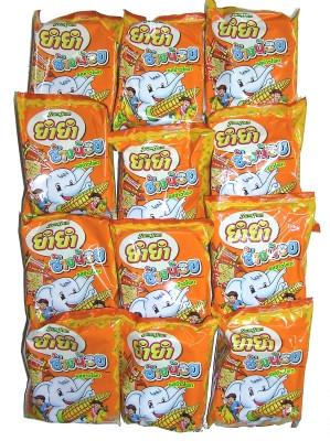 CHANG NOI Instant Noodles - Corn Flavour 12x22g - YUM YUM