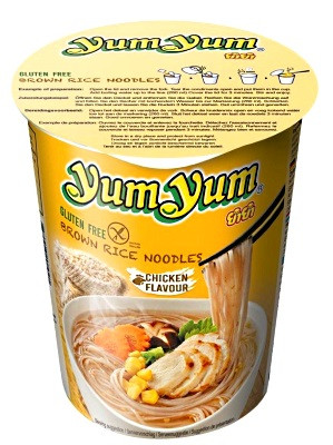 Instant Brown Rice CUP Noodles - Chicken Flavour - YUM YUM