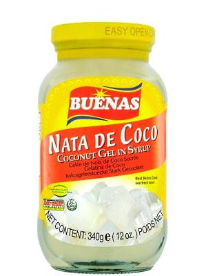 Nata De Coco (Coconut Gel in Syrup) - White - BUENAS