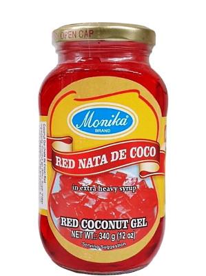 Nata De Coco (Coconut Gel in Syrup) - Red - MONIKA