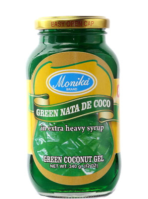 Nata De Coco (Coconut Gel in Syrup) - Green - MONIKA