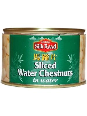 Sliced Water Chestnuts in Water 227g - SILK ROAD