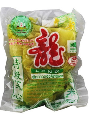 Sour Pickled Green Mustard with Leaf - LENG HENG