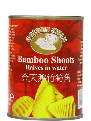 Bamboo Shoot Halves in Water 567g - GOLDEN SWAN