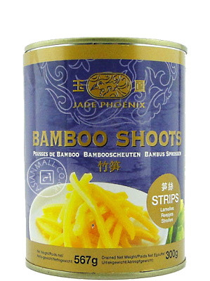 Bamboo Shoot Strips in Water 567g - JADE PHOENIX