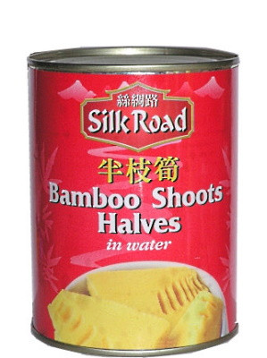 Bamboo Shoot Halves in Water 567g - SILK ROAD