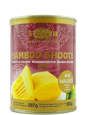 Bamboo Shoot Halves in Water 567g - JADE PHOENIX