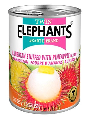 Rambutan Stuffed with Pineapple in Syrup - TWIN ELEPHANTS