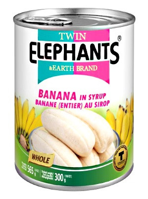 Whole Banana in Heavy Syrup - TWIN ELEPHANTS