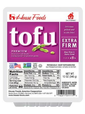 PREMIUM Tofu - Extra Firm 340g - HOUSE