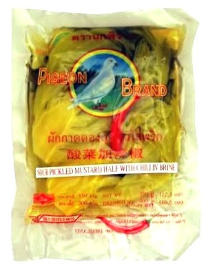 Sour Pickled Mustard with Chilli 350g – PIGEON